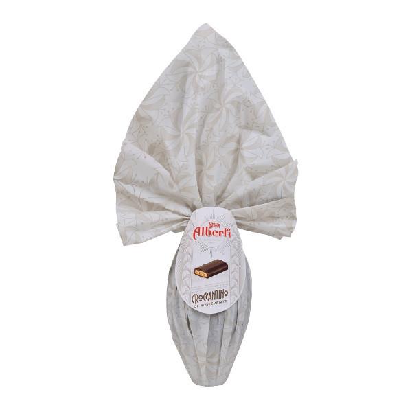Foto Uovo di Cioccolato Fondente al Croccantino Strega Alberti