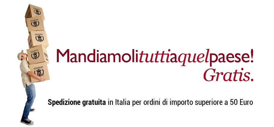 Spedizione gratuita in Italia per ordini di importo superiore a 50 Euro
